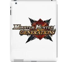 Official Monster Hunter Generations Logo! iPad Case/Skin