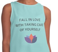 Fall in Love with Taking Care of Yourself Contrast Tank