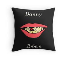 Danny Brown's Crooked Smile Throw Pillow