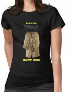 Buckle Up. Trump 2016.  Womens Fitted T-Shirt