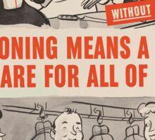 Vintage poster - Rationing Sticker
