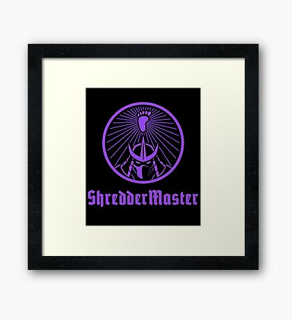 ShredderMaster Framed Print