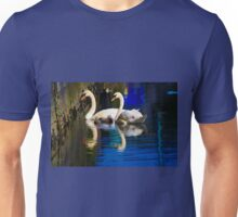 Mother, Father, and Baby Swans (Cygnets) Unisex T-Shirt