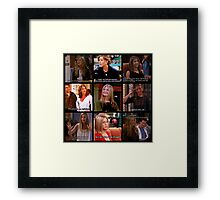 Rachel Green Quotes Collage Framed Print
