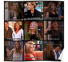 Rachel Green Quotes Collage Poster
