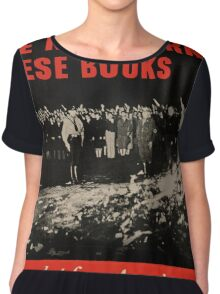 Vintage poster - Burned Books Chiffon Top