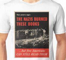 Vintage poster - Burned Books Unisex T-Shirt