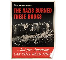 Vintage poster - Burned Books Poster