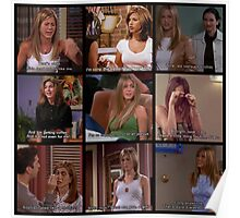 Rachel Green Quotes Collage #2 Poster