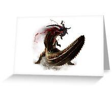 Monster Hunter Savage Deviljho Greeting Card
