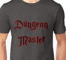Red Glow Dungeon Master with Magical Font Unisex T-Shirt