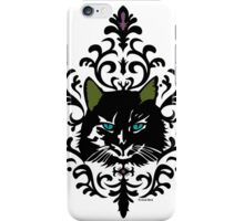 cat nap damask iPhone Case/Skin