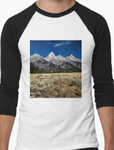 Grand Tetons Men's Baseball ¾ T-Shirt