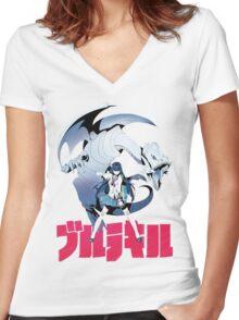 Satsuki Kaiba Women's Fitted V-Neck T-Shirt