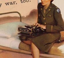 Vintage poster - WAC Sticker