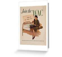 Vintage poster - WAC Greeting Card