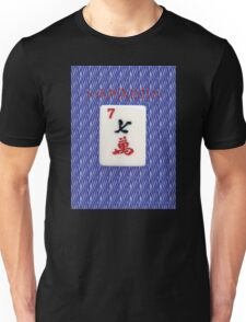 Mahjaholic Lucky Seven with Blue Zebra Design-#15 Unisex T-Shirt