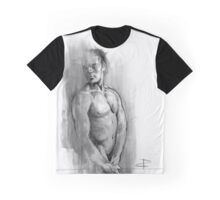 Resting - Conté Drawing Graphic T-Shirt