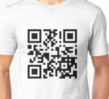 Keep mobile devices away in a QR Code (Black) Unisex T-Shirt