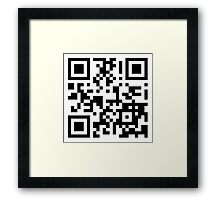 Keep mobile devices away in a QR Code (Black) Framed Print