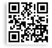 Keep mobile devices away in a QR Code (Black) Canvas Print