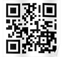 Keep mobile devices away in a QR Code (Black) Poster