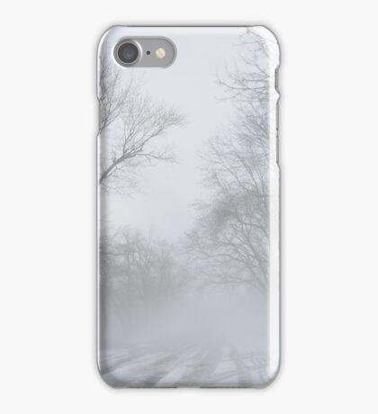 winter snow in the fog iPhone Case/Skin