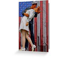 The VJ day Kiss Greeting Card