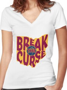 Break The Cleveland Curse Women's Fitted V-Neck T-Shirt