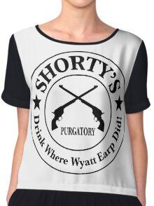 Shorty's Saloon from Wynonna Earp Chiffon Top