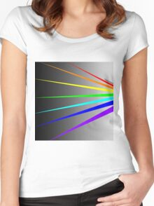 Color Spectrum Women's Fitted Scoop T-Shirt