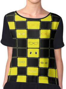We See The Truth - TV Grid Chiffon Top