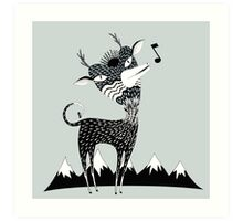Singing Deer of the Shaggy Mountains Art Print