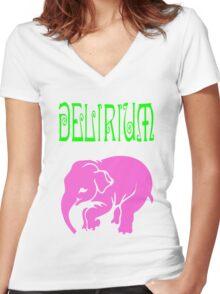 Delirium Women's Fitted V-Neck T-Shirt