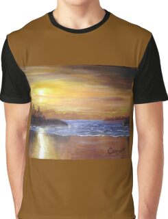 Serenity at Mackenzie Beach Graphic T-Shirt