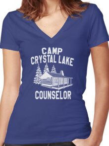 Camp Crystal Lake Counselor  Women's Fitted V-Neck T-Shirt