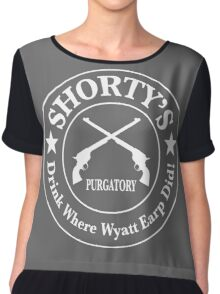 Shorty's Saloon from Wynonna Earp in white Chiffon Top