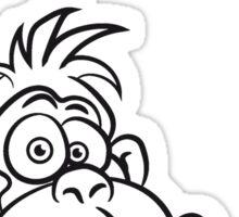 Gorilla kiffen joint party Sticker