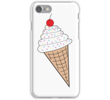 Vanilla Ice Cream Cone w/ Sprinkles iPhone Case/Skin