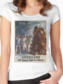Vintage poster - World War II Women's Fitted Scoop T-Shirt