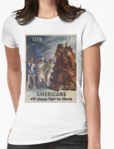 Vintage poster - World War II Womens Fitted T-Shirt
