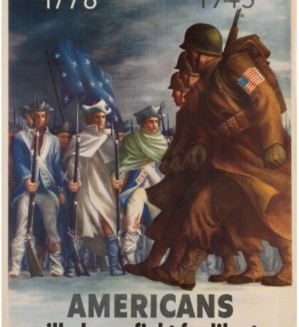 Vintage poster - World War II Sticker