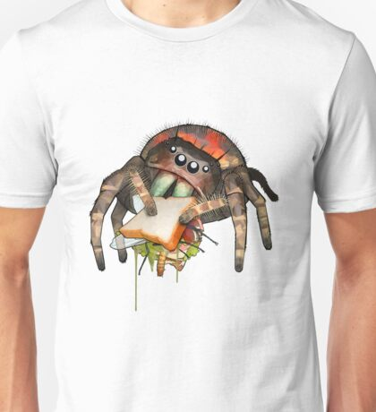 """Lunch on the Fly"" Jumping Spider Sandwich #2 Unisex T-Shirt"