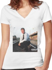 Clinton's Mix Tape Women's Fitted V-Neck T-Shirt
