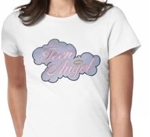 Teen Angel Womens Fitted T-Shirt