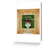 Oscar and the Roses - Front cover - Welsh Version Greeting Card