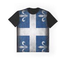 Quebec Flag Drapeau Graphic T-Shirt