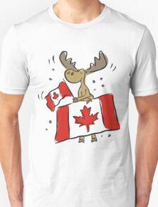 Canada Day Moose Unisex T-Shirt