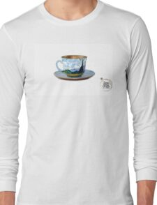 TeaVanGogh - Wheat Field with Cypresses Long Sleeve T-Shirt