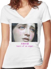 Angel Tears Women's Fitted V-Neck T-Shirt